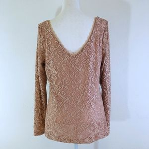 WHBM Blush Pink Lace Low Back Top {SF}